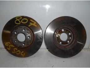 Paire de disques avant (freinage) pour PEUGEOT 807 PHASE 1